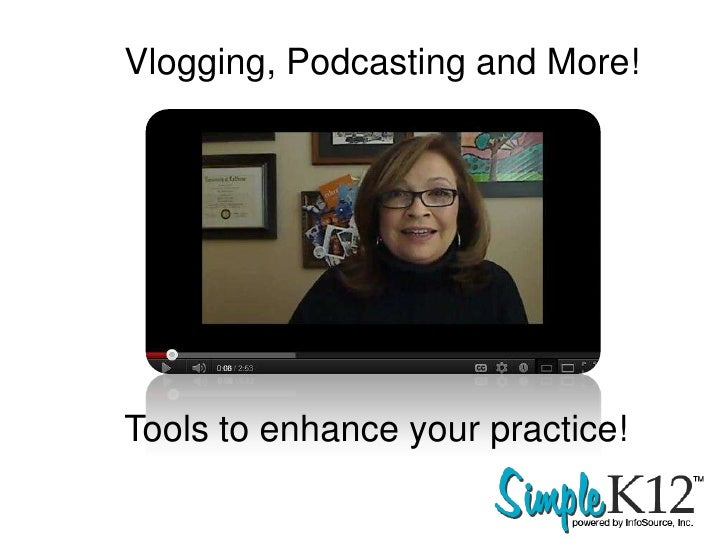 Vlogging, Podcasting and More!Tools to enhance your practice!