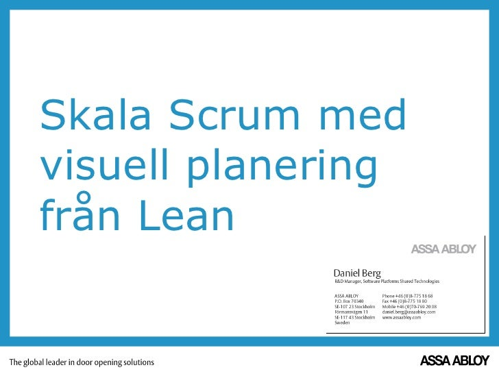 Skala scrum med visuell planering från lean - Daniel Berg