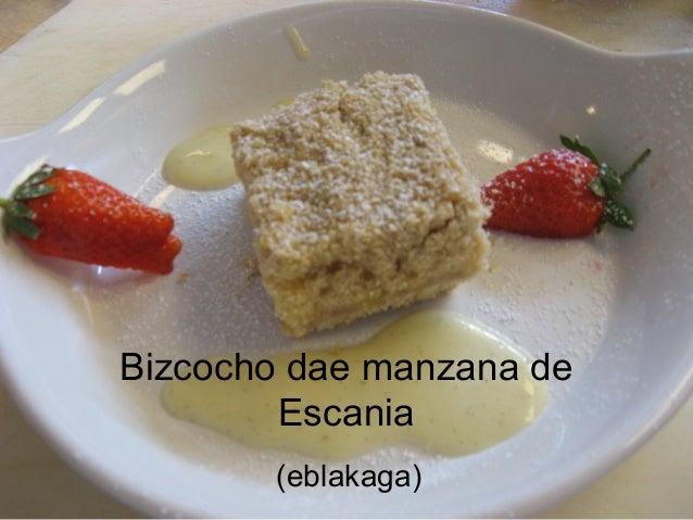 Bizcocho dae manzana de Escania (eblakaga)