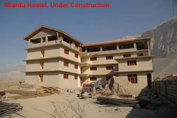 Skardu hostel, under construction