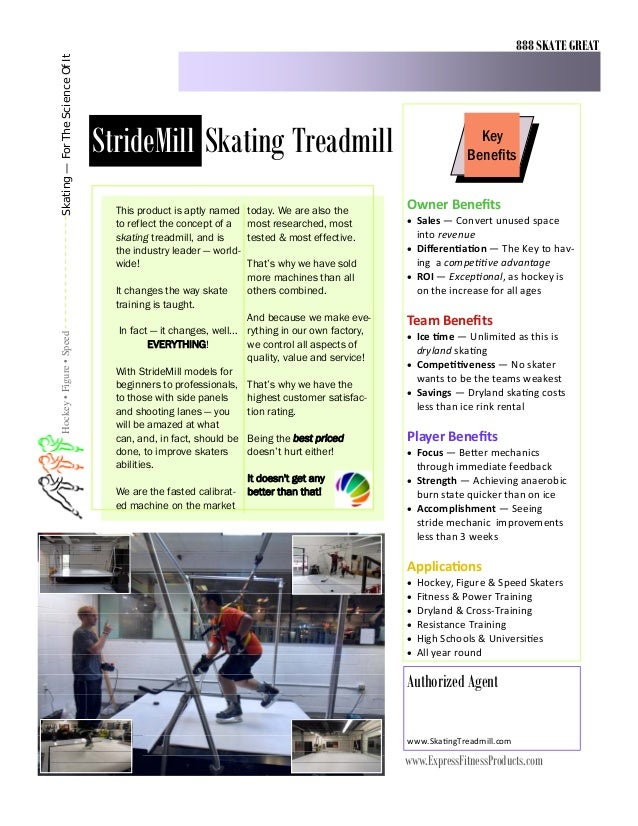 888 SKATE GREATSkating — For The Science Of It                                  StrideMill Skating Treadmill              ...