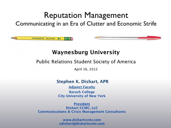 PR Week Presentation- Stephen K. Dishart