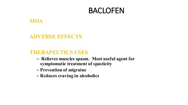 Skeletal muscle relaxants & Spasmolytics dr abdul azeem ~ Baclofen Dosage For Anxiety