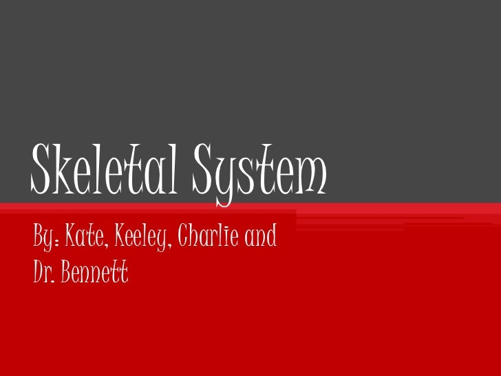Skeletal System<br />By: Kate, Keeley, Charlie and Dr. Bennett  <br />