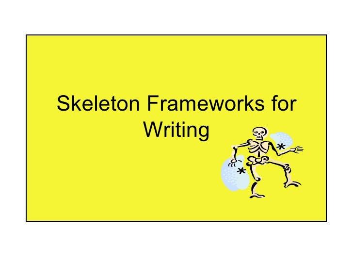 Skeleton Frameworks for geography