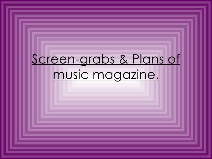 Sketches, Plans & Development Of Music Magazine