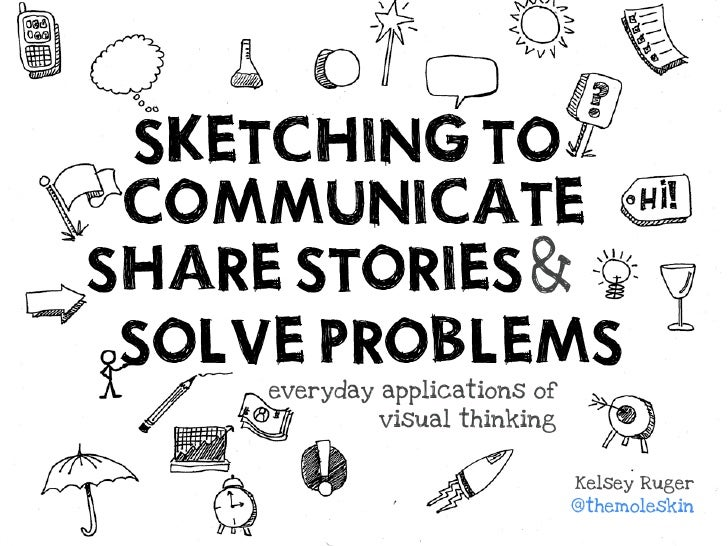SKETCHING TO  COMMUNICATE SHARE STORIES &  SOLVE PROBLEMS      everyday applications of               visual thinking     ...