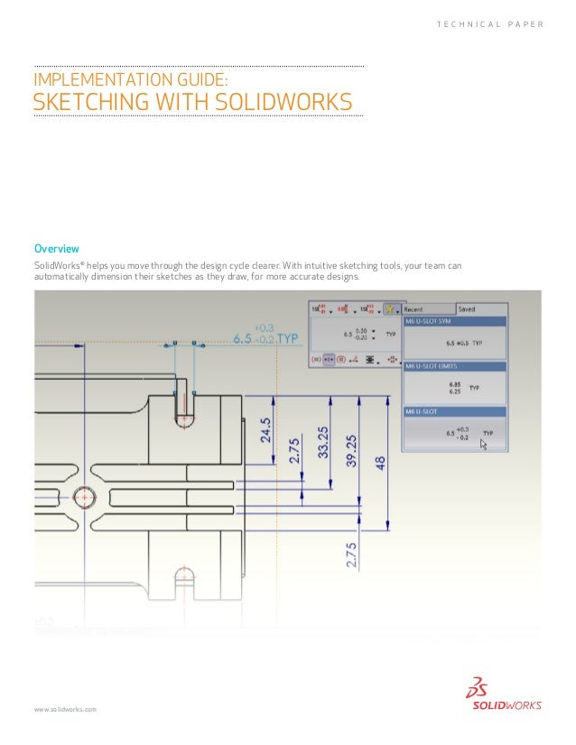 OverviewSolidWorks®helps you move through the design cycle clearer. With intuitive sketching tools, your team canautomatic...