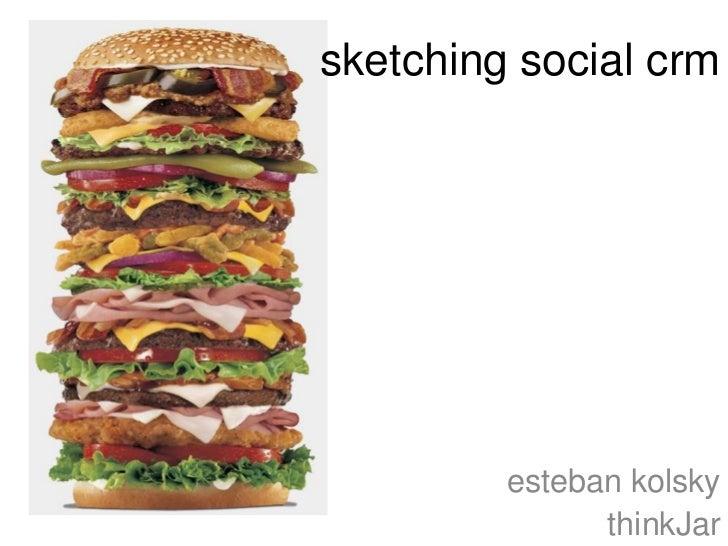 sketching social crm         esteban kolsky               thinkJar