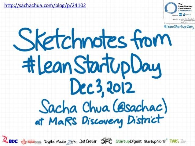 Sketchnotes: Lean Startup Day, Dec 3, 2012