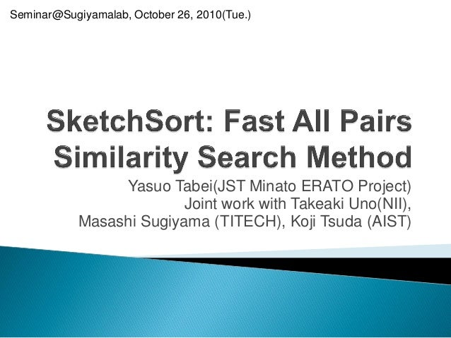 Sketch sort sugiyamalab-20101026 - public