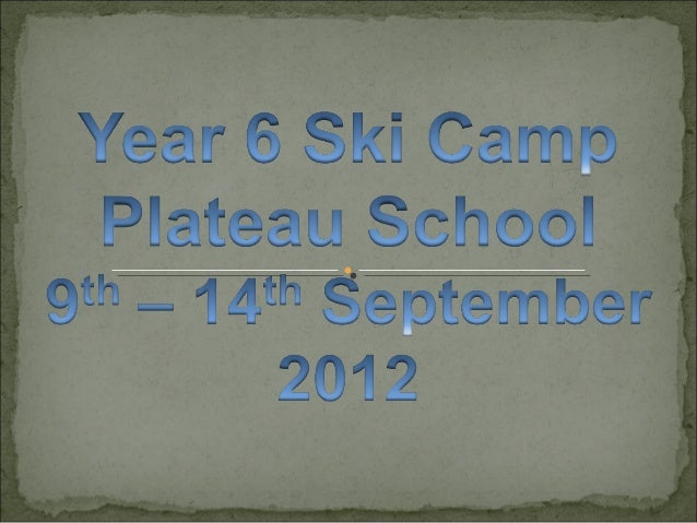 Ski Camp 2012 slideshow