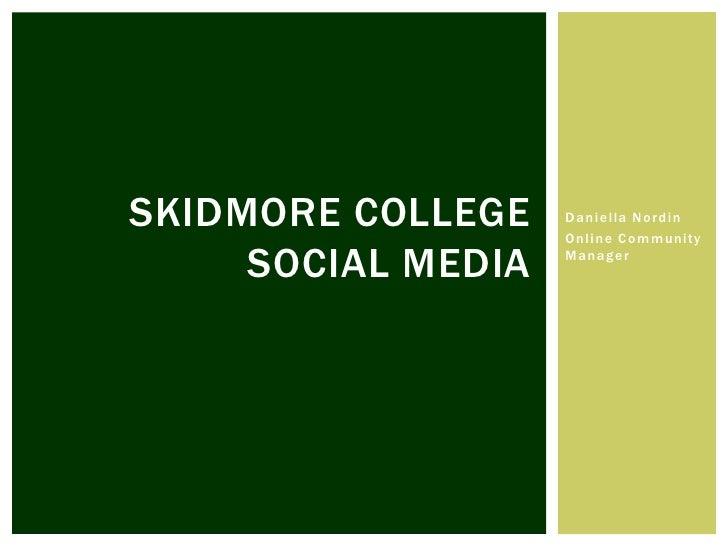 Skidmore College Social Media