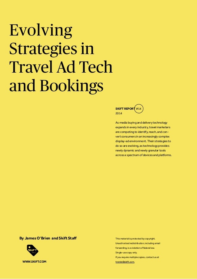 Evolving Strategies in Travel Ad Tech and Bookings As media buying and delivery technology expands in every industry, trav...