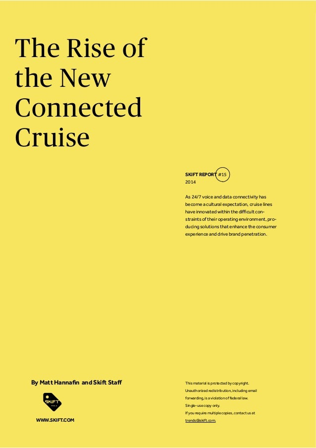 The Rise of the New Connected Cruise