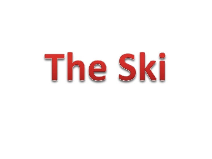 Ski Cross• In a qualification round, every competitor  runds skiing down the slope.• The slope goes downhill, with ground ...