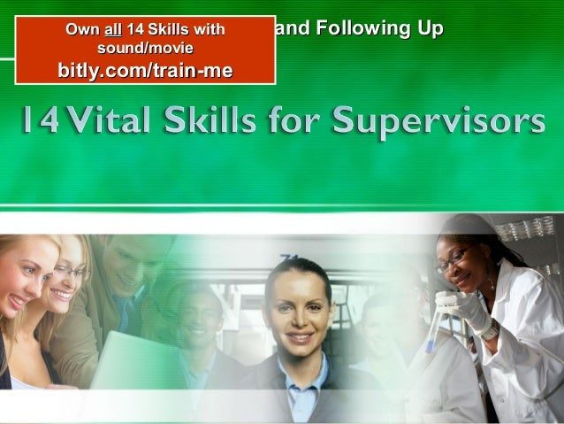 Own all 14 Skills with Delegating Work sound/movie  and Following Up  bitly.com/train-me  1