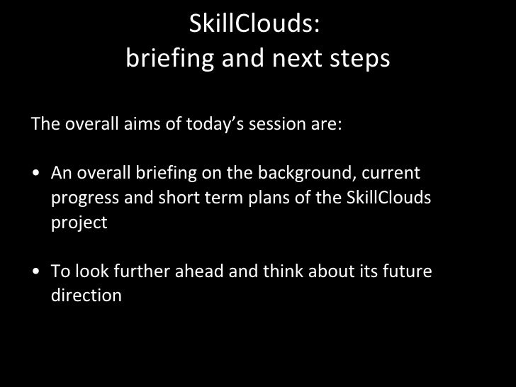 Skill Clouds Project Briefing Sept08