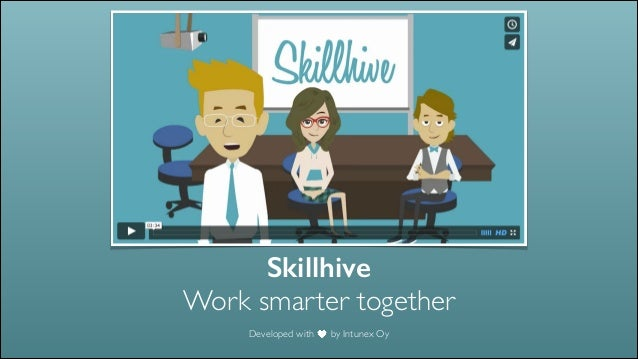 Skillhive Work smarter together Developed with by Intunex Oy