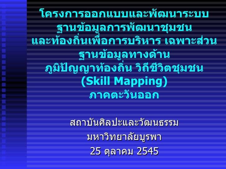 Skillmapping