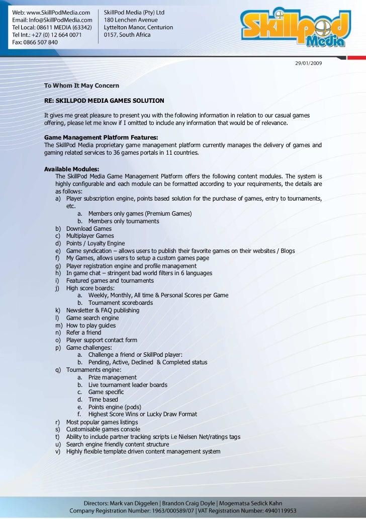 Skill Pod Media Games Solution Detailed