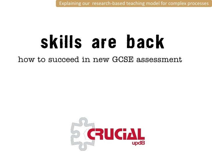 Explaining our research-based teaching model for complex processeshow to succeed in new GCSE assessment     THE resource f...