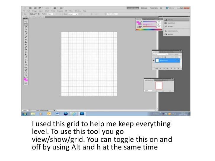 I used this grid to help me keep everythinglevel. To use this tool you goview/show/grid. You can toggle this on andoff by ...