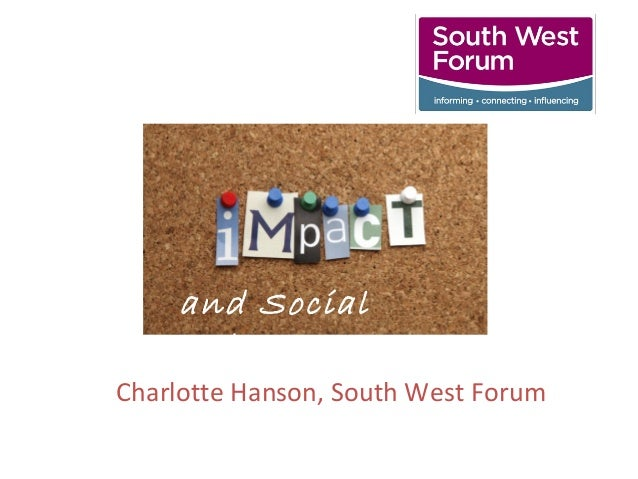 Charlotte Hanson, South West Forum and Social Value