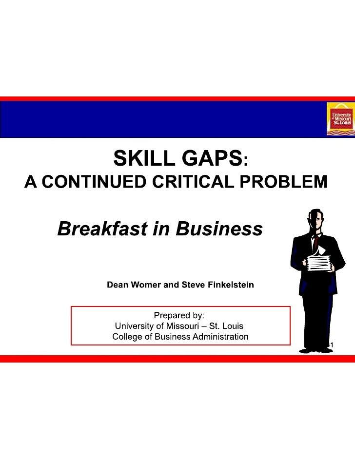 UMSL College of Business 2010 Skills Gap