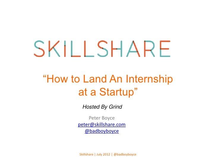Skillshare class internship_grind_july3