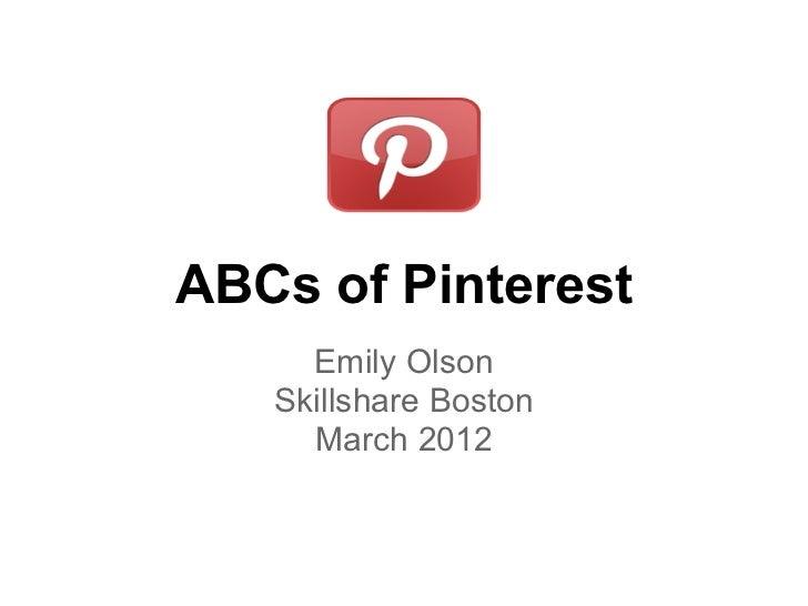 Skillshare: Pinterest ABCs