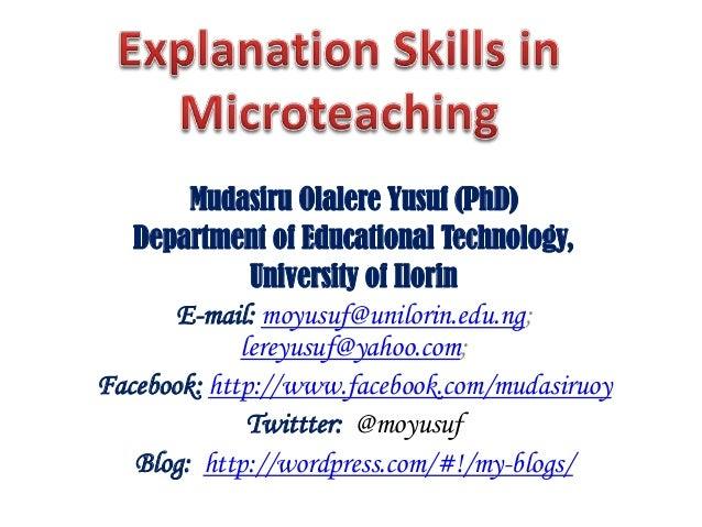 Skills in Explaining