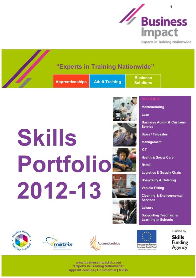 Skills portfolio 2012 13