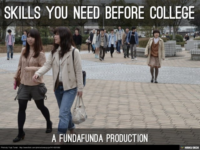 Skills You Need Before College