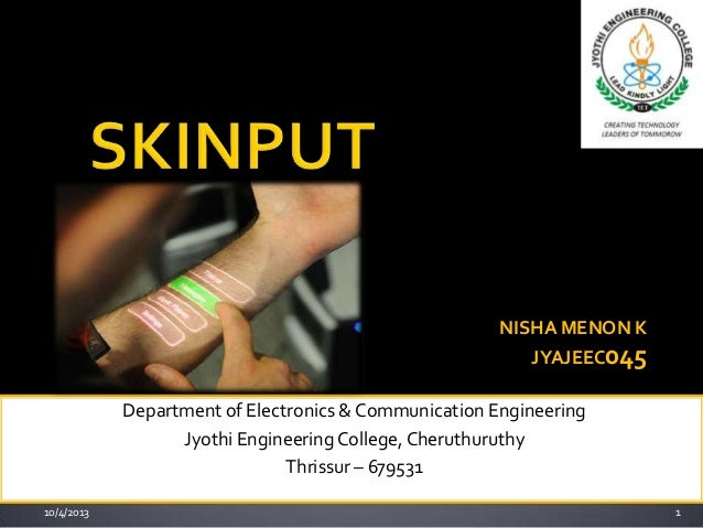 Department of Electronics & Communication Engineering Jyothi EngineeringCollege, Cheruthuruthy Thrissur – 679531 1 NISHA M...