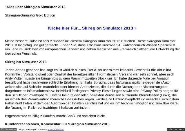 """""""Alles über Skiregion Simulator 2013  Skiregion-Simulator Gold Edition                                             Klicke ..."""