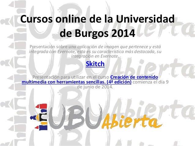 Cursos online de la Universidad de Burgos 2014 Presentación sobre una aplicación de imagen que pertenece y está integrada ...
