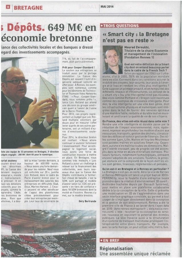 """""""Smart city: la Bretagne n'est pas en reste"""""""