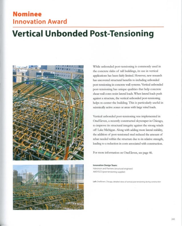 Unbonded Post Tensioning : Ctbuh innovation award nominee vertical unbonded post