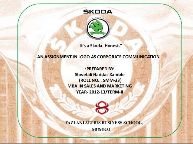 Skoda logo ppt shwetali k smm33