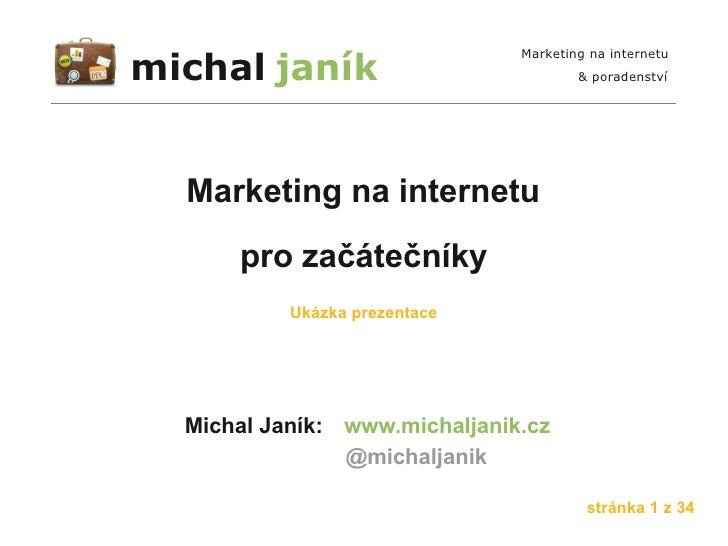 Školení Marketing na internetu pro začátečníky