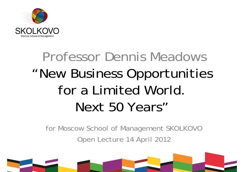 Skolkovo open lecture by Dennis Meadows