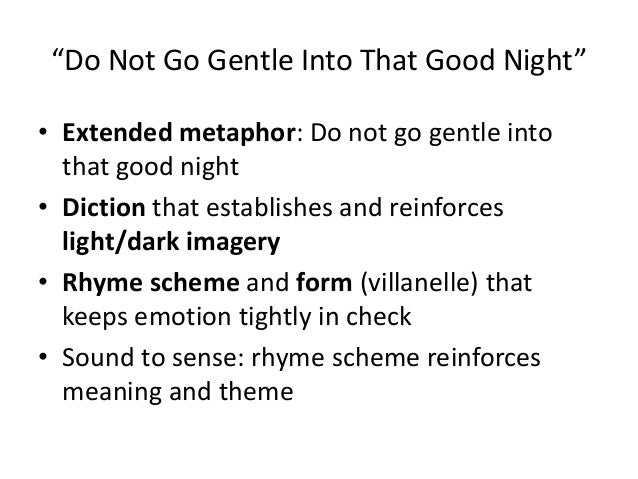 Do not go gentle into that good night analysis essay