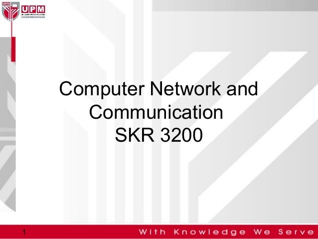 Computer Network and Communication SKR 3200  1
