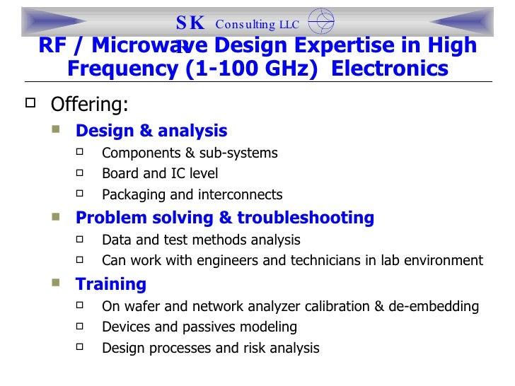 <ul><li>Offering: </li></ul><ul><ul><li>Design & analysis </li></ul></ul><ul><ul><ul><li>Components & sub-systems </li></u...