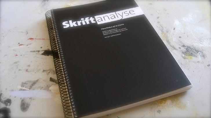 Skriftanalyse Grafisk Litteratur
