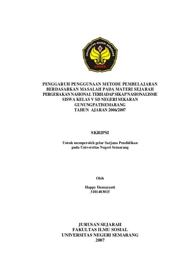 Cover Proposal Skripsi Unnes