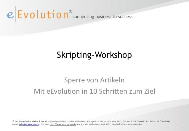 connecting business to success                                          Skripting-Workshop                             Spe...
