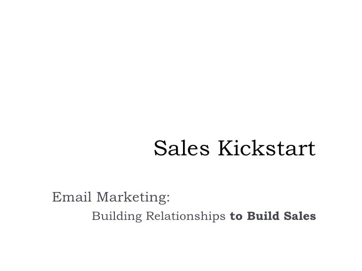 Sales Kickstart: Email Marketing for Small Business Owners