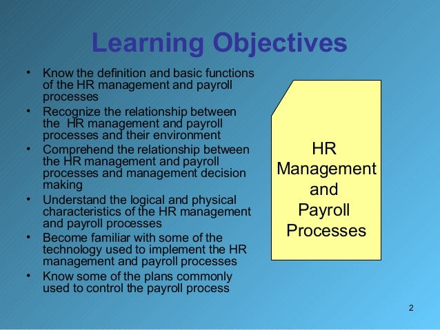 Literature review on payroll management